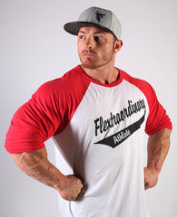 Flextraordinary 3/4 Red Sleeve Jersey, Black on White