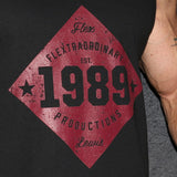 Flextraordinary Productions 1989 Vintage Men's Tank, Black