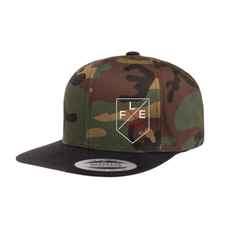 Flex Badge Camo 2-Tone Flat Brim Hat