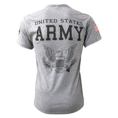 Army Logo Tri-Blend T-Shirt w/ Flag - Heather