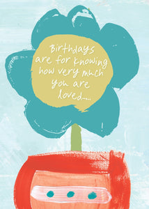 BIRTHDAY CARD - Birthdays are for Knowing