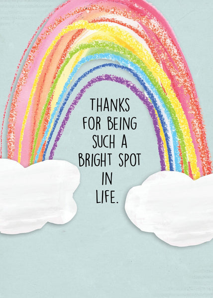 THANK YOU CARD - For Being Such a Bright Spot