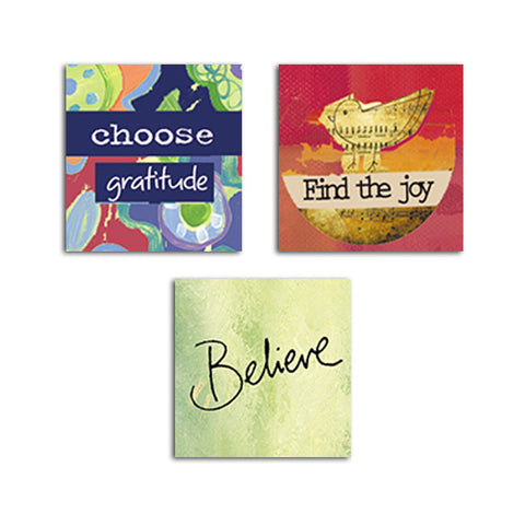 Choose Gratitude • Find Joy • Believe Magnet Set