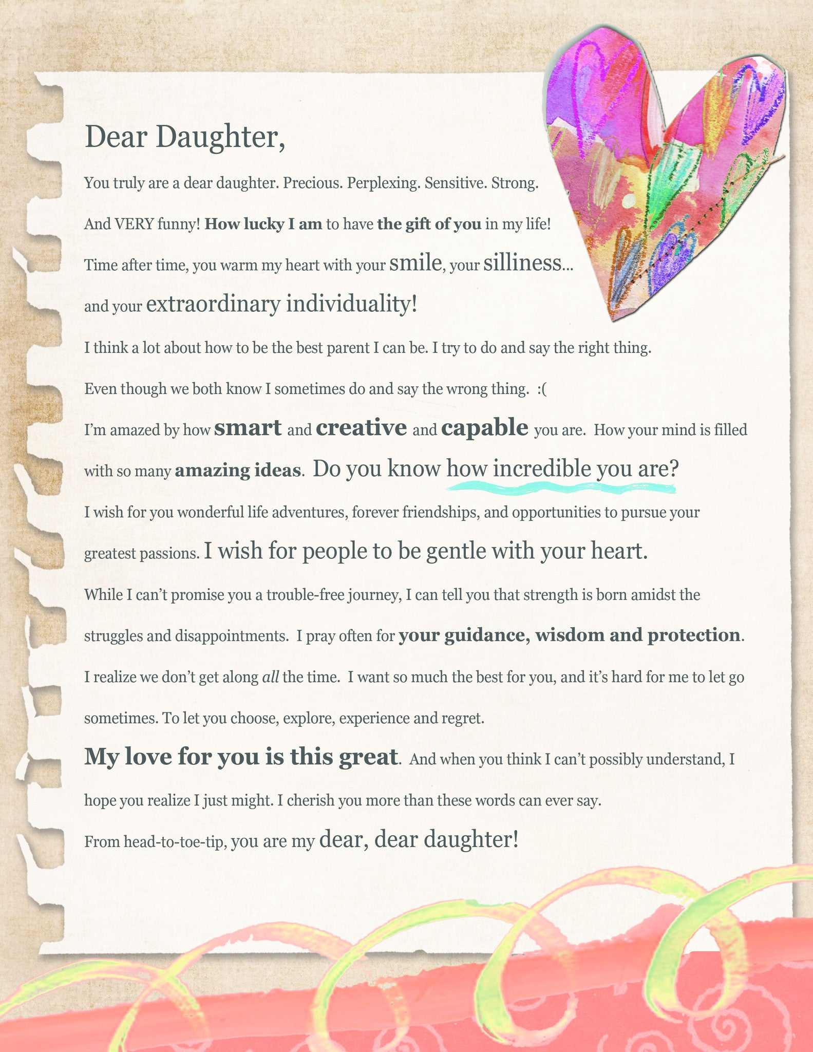 LOVE LETTER - Dear Daughter (Digital Download)