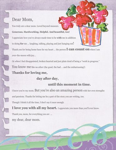 Dear Mom Letter (Digital Download)