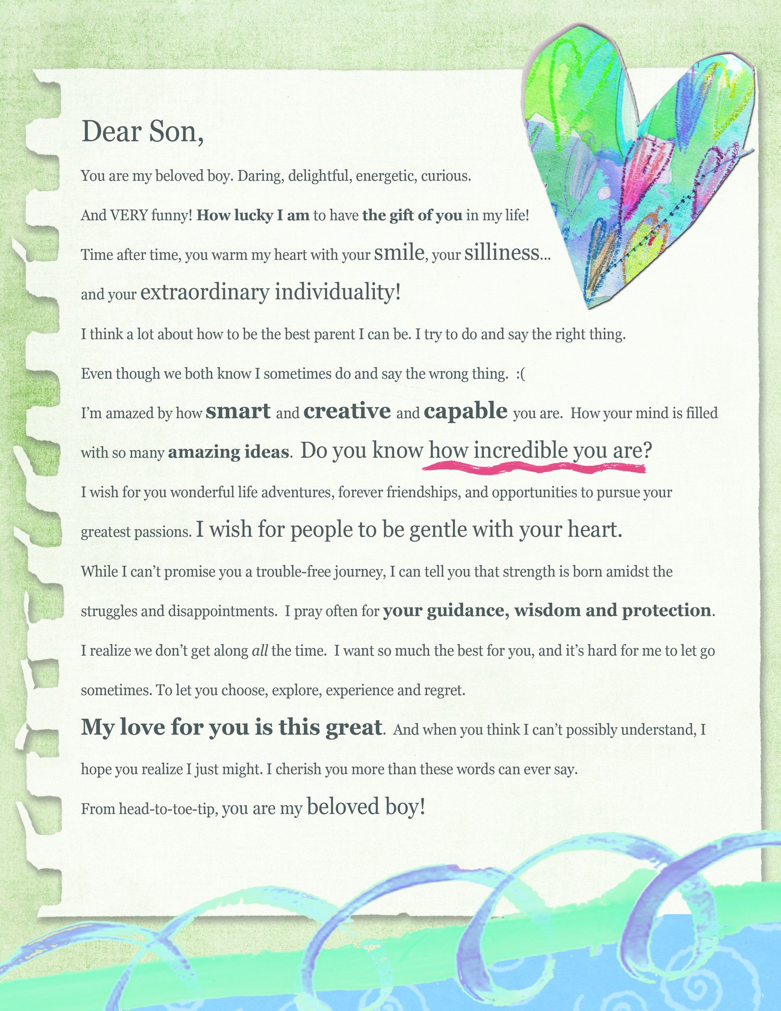 Dear Son Letter (Digital Download)