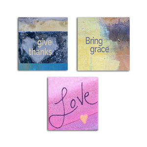 MAGNET SET - Give Thanks • Bring Grace • Love