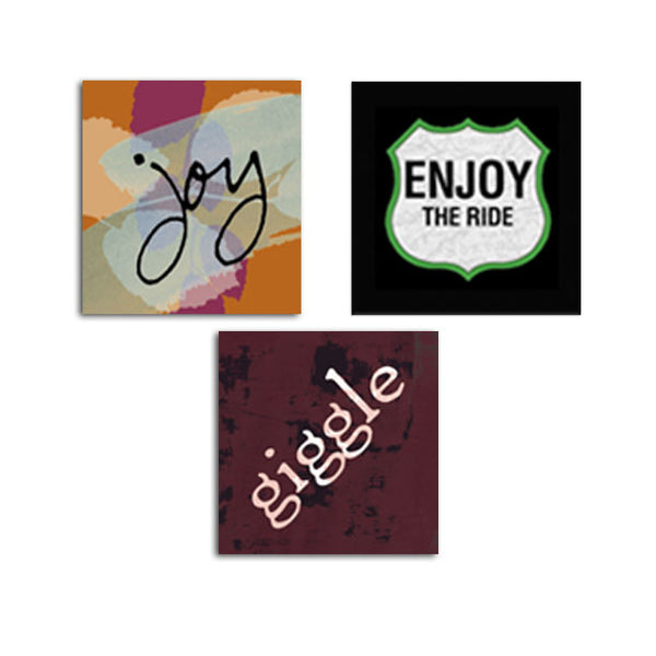 MAGNET SET - Joy • Enjoy the Ride • Giggle