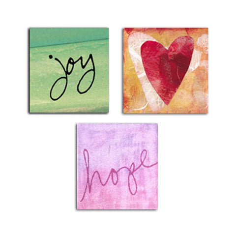 Joy • Love • Hope Magnet Set