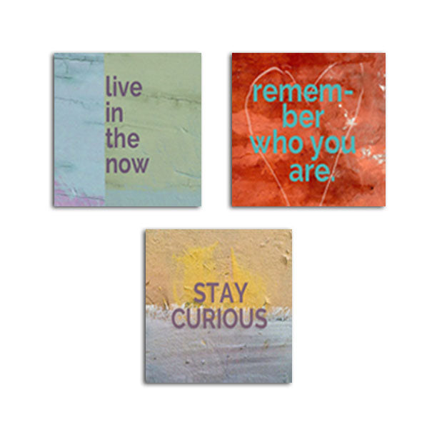 MAGNET SET - Live in the Now • Remember • Stay Curious