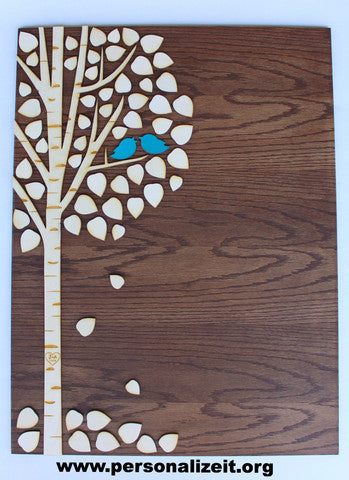 Aspen/Birch Tree of Life~A Wedding Guestbook Alternative~65 leaves