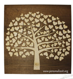 Wooden Wedding Guestbook Alternative Tree with Hearts