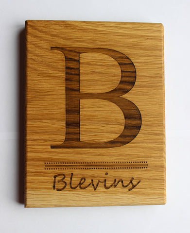 Engraved Cutting Boards~Family Name Design