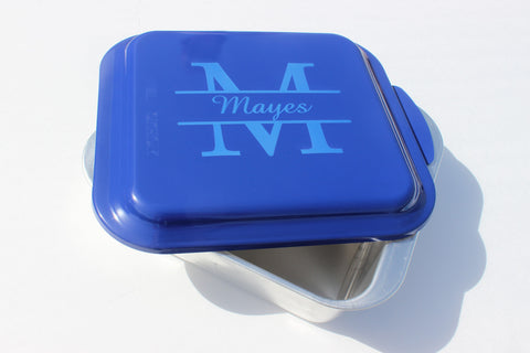 Personalized Nordicware Cake Pan--9x9 Split Monogram