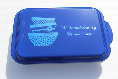 Personalized Nordicware Aluminum Cake Pan ~Vintage Mixing Bowls~