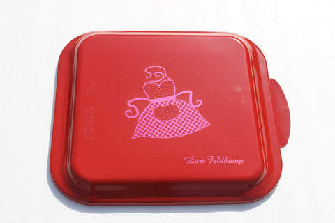 Personalized Nordicware Cake Pan--9x9 Graphic with Name