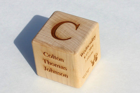 Personalized Keepsake Baby Block
