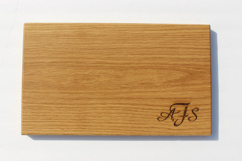 Engraved Cutting Boards~Mongram Corner Design