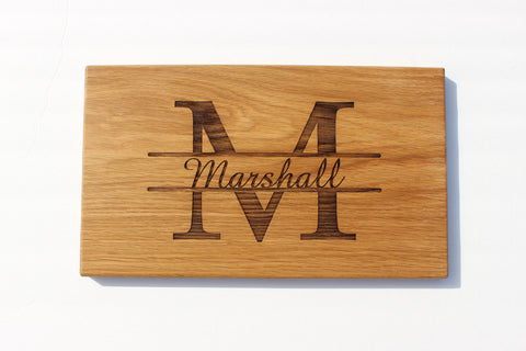 Engraved Cutting Boards~Split Mongram Design