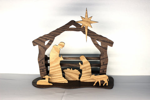 Silhouette Nativity- 3D Stained Nativity Scene Kit