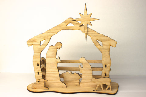 Silhouette Nativity- 3D Natural Nativity Scene Kit