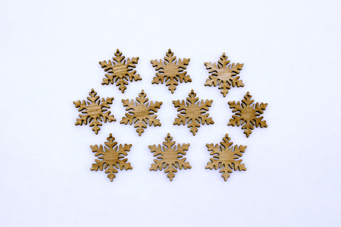 Mini Snowflake Ornaments~Set of 10