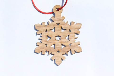 Snowflake 1 Wooden Ornament