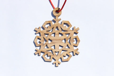 Snowflake 2 Wooden Ornament