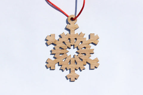 Snowflake 3 Wooden Ornament