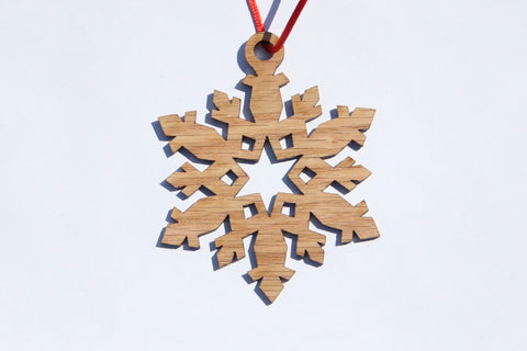 Snowflake 4 Wooden Ornament