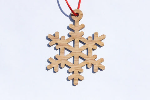 Snowflake 5 Wooden Ornament