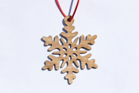 Snowflake 6 Wooden Ornament