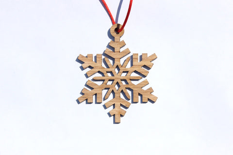 Snowflake 12 Wooden Ornament