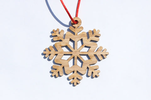 Snowflake 7 Wooden Ornament
