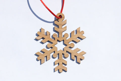 Snowflake 8 Wooden Ornament