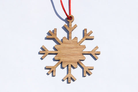 Snowflake 13 Wooden Ornament