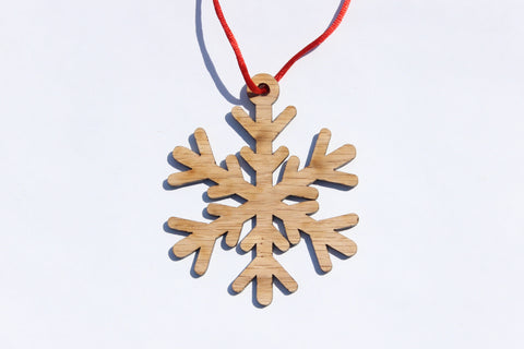 Snowflake 9 Wooden Ornament