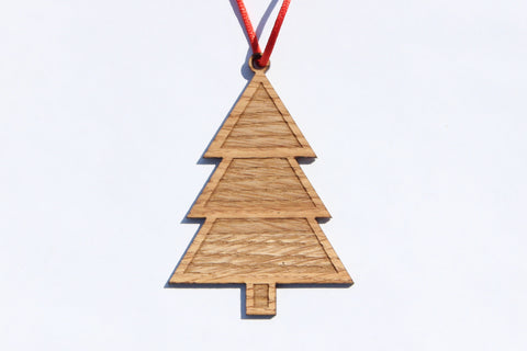 Tree 2 Wooden Ornament