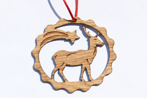 Deer Wooden Ornament