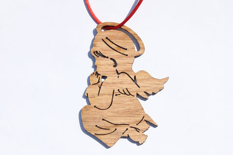 Little Angel Wooden Ornament