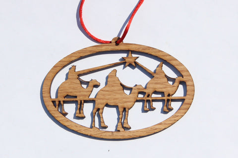 Wisemen Wooden Ornament