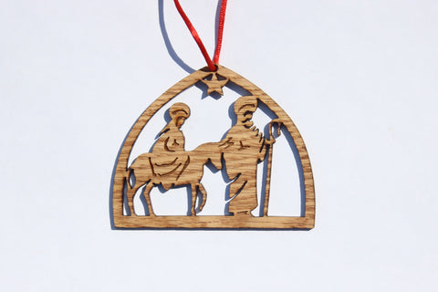 Journey to Bethlehem Wooden Ornament