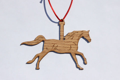 Carousel Horse Wooden Ornament