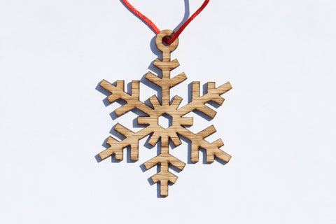 Snowflake 11 Wooden Ornament