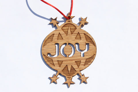Joy Wooden Ornament