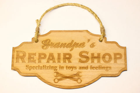 Repair Shop Door Sign