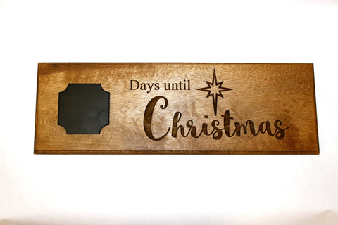 Days Until Christmas Chalkboard Wooden Plaque