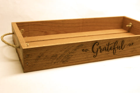 Grateful Rustic Serving Tray