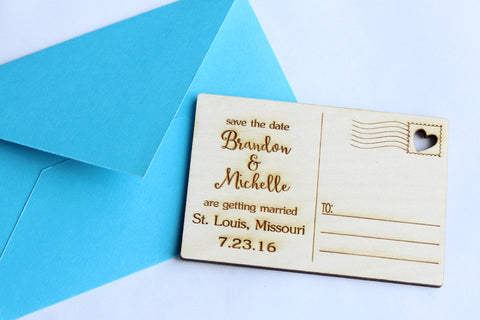 Save the Date~Wooden Postcard (Volume Discounts Available!)