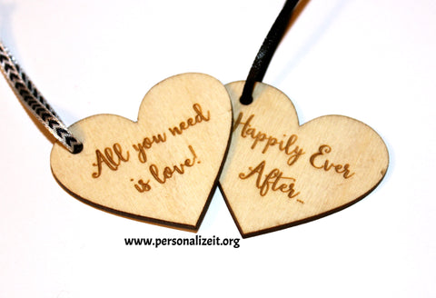 Custom Engraved Tag ~ Wooden Heart www.personalizeit.org